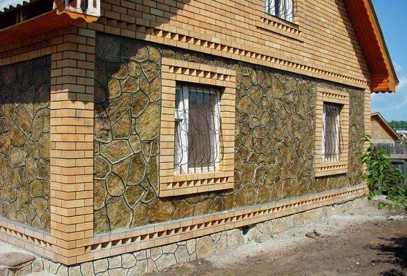 Фасад из декоративного камня своими руками 33